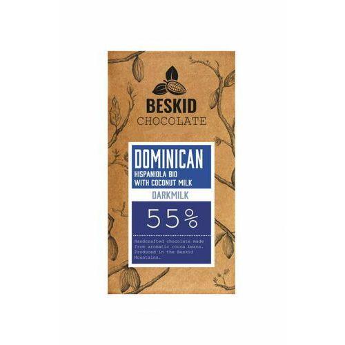 Beskid chocolade Czekolada ciemna mleczna beskid chocolate dominikana bio 55% z mlekiem kokosowym (5903137557650)