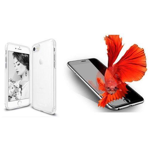 Rearth / perfect glass Zestaw | rearth ringke slim frost white | obudowa + szkło ochronne perfect glass dla modelu apple iphone 7