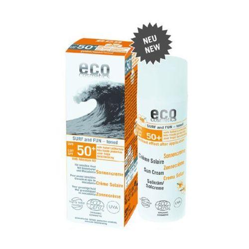 Eco cosmetics Surf & fun tonowany krem na słońce lsf/spf 50+ z owocem granatu i olejem z makadamii (4033981742214)