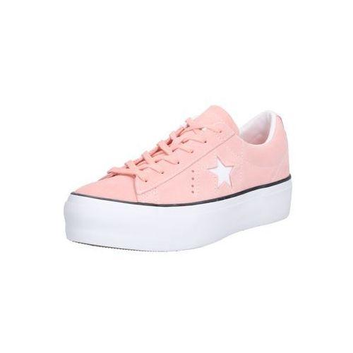 trampki niskie 'one star platform - ox' koralowy / różowy pudrowy / biały marki Converse