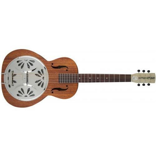 g9200 boxcar round-neck, mahogany body resonator guitar, natural gitara akustyczna marki Gretsch
