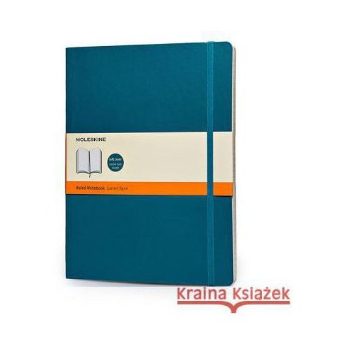 Moleskine Soft Extra Large Underwater Blue Ruled Notebook (9788867323753)