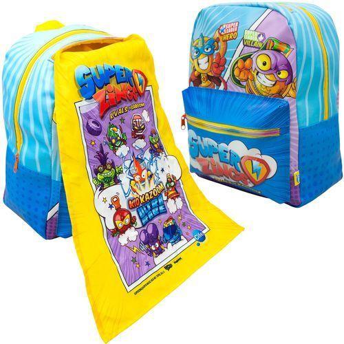 Magic box Super zings plecak szkolny dla dzieci z peleryną superzings