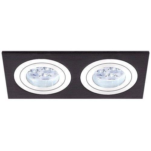 Bpm lighting Oczko podwójne mini catli aluminium szczotkowane czarne led, 3055led1