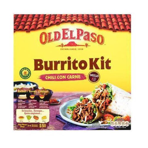 OLD EL PASO 620g Zestaw Burrito Kit