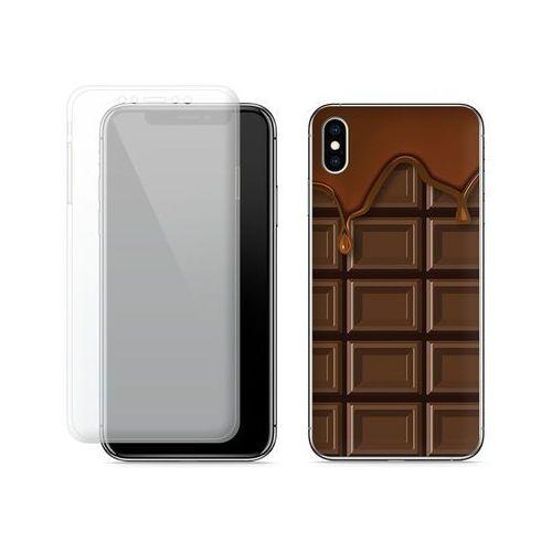 Apple iPhone XS Max - etui na telefon Full Body Slim Fantastic - tabliczka czekolady, kolor brązowy