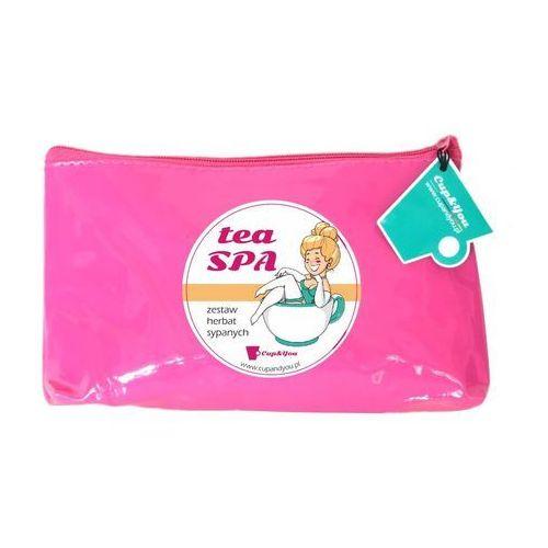Tea spa - zestaw herbat smakowych w kosmetyczce dla kobiet, 10 saszetek po 5g marki Cup&you cup and you