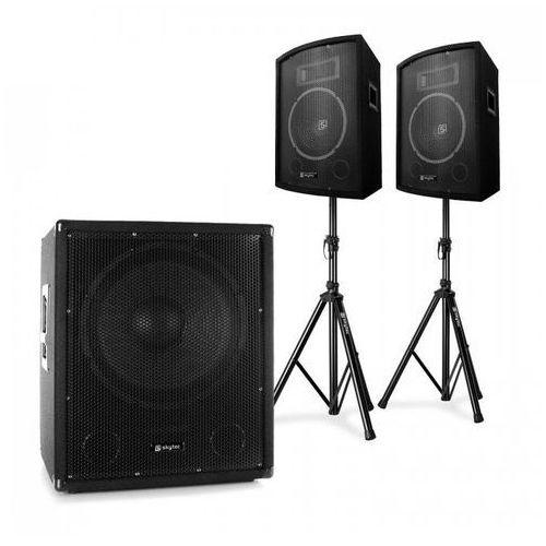 Elektronik-star 2.1 aktywny zestaw nagłośnieniowy z subwooferem bi-amp, parą głośników 10