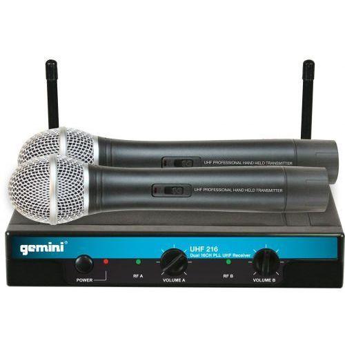 Gemini UHF-216M mikrofon bezprzewodowy podwojny