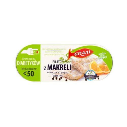 Graal 110g filety z makreli w wodzie z cytryną i pieprzem diabetyk