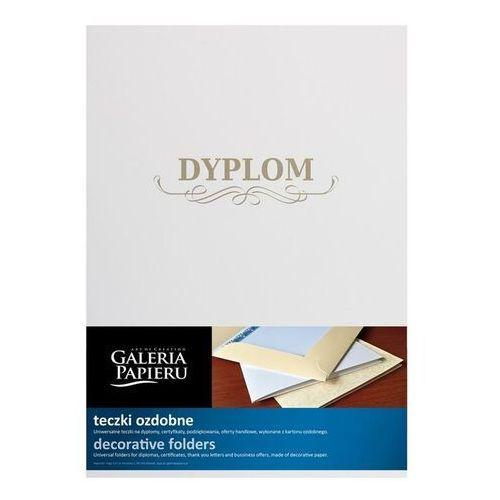 Teczka ozdobna na dyplom GP op.5 - biała z napisem DYPLOM