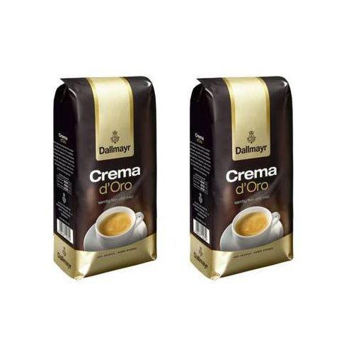 Zestaw 2x crema d'oro kawa ziarnista import 1kg marki Dallmayr