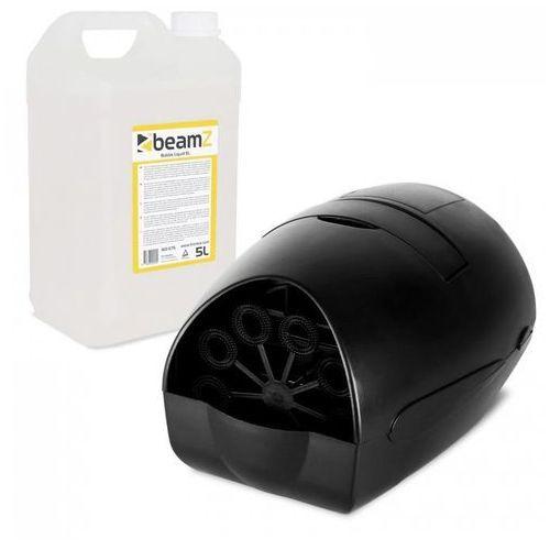 Beamz B100 przenośna maszynka do puszczania baniek mydlanych + 5 l płyn do robienia baniek