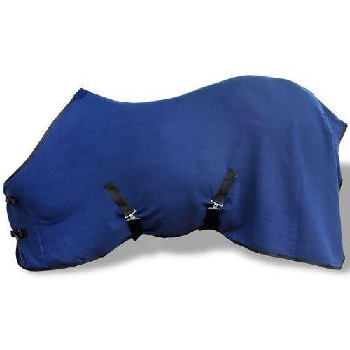 Vidaxl  polarowa derka z zapięciami, 115 cm, niebieska, kategoria: artykuły jeździeckie
