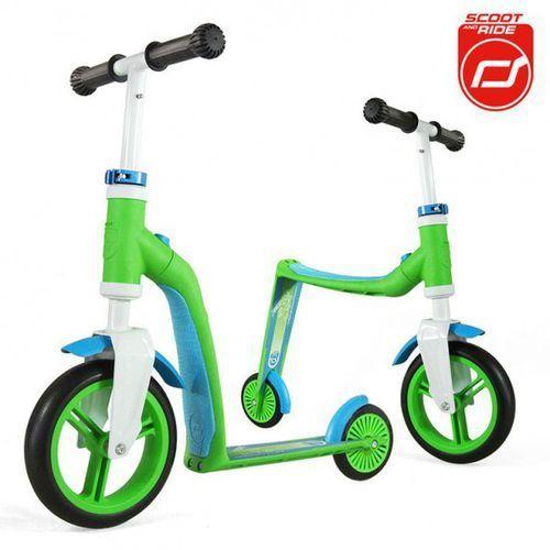 Highwaybaby 2w1 hulajnoga i rowerek 1+ Green, Scootandride - produkt z kategorii- hulajnogi dla dzieci
