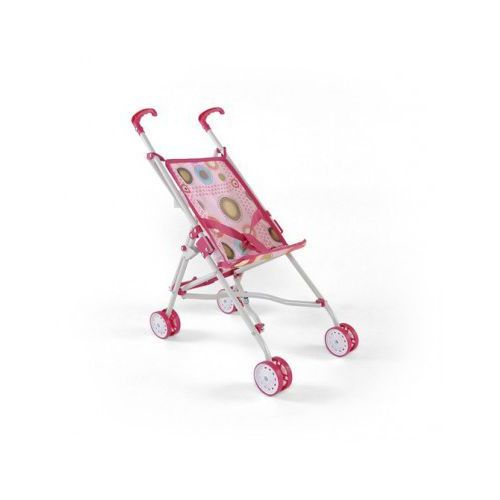 Wózek dla lalek JULKA zabawka różowo-brązowy - produkt z kategorii- wózki dla lalek