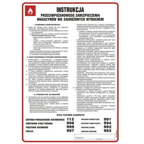 Instrukcja przeciwpożarowego zabezpieczenia magazynów nie zagrożonych wybuchem marki Top design