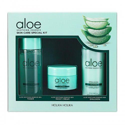 Holika holika zestaw produktów do twarzy na bazie aloesu, aloe soothing essence skincare special kit (8806334380588)