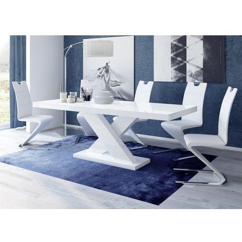 Biały stół rozkładany w wysokim połysku Xenon