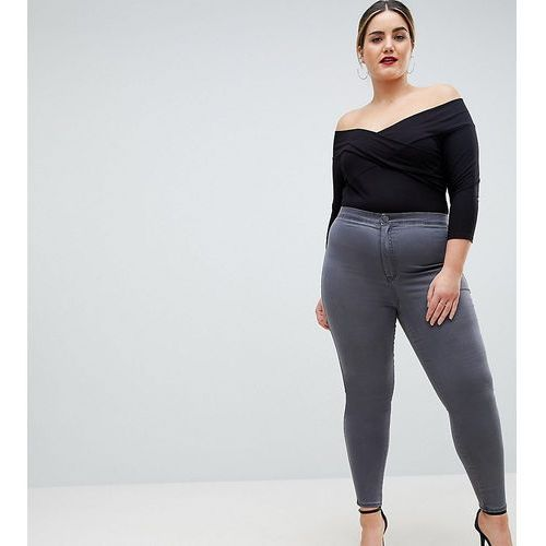 ASOS DESIGN Curve Rivington high waisted jeggings in new grey wash - Grey