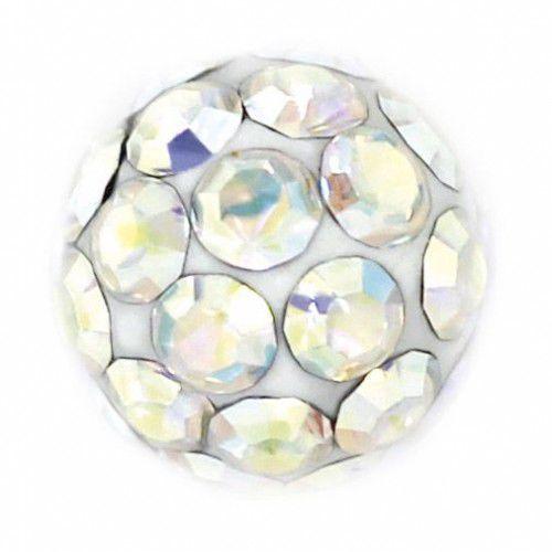 Kolczyki 7522-0315 kulka z kryształkami górskimi marki Studex