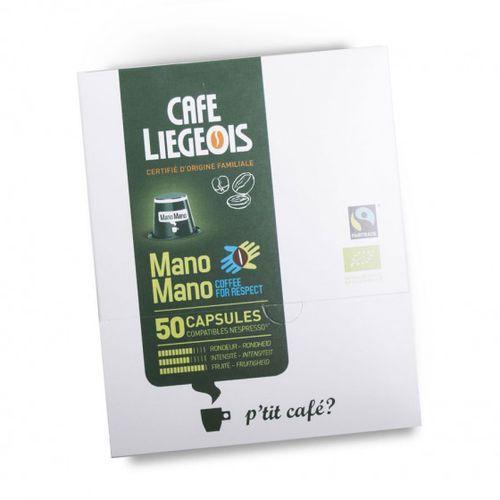 "Kawa w kapsułkach Café Liégeois ""Mano Mano"", 50 szt."