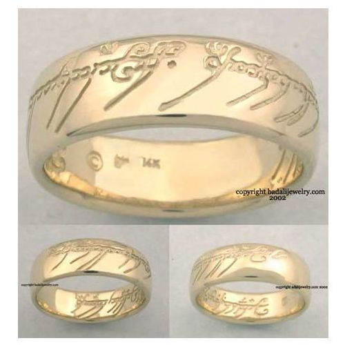 14k. Gold The One Ring (ORG-14)