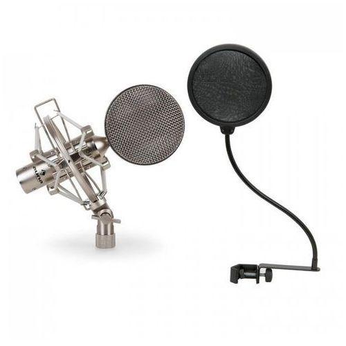 Zestaw mikrofonowy x mikrofon studyjny 1 x pop filtr marki Auna