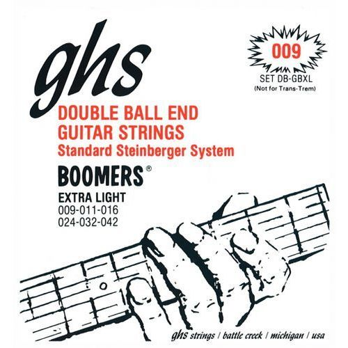 Ghs double ball end boomers struny do gitary elektrycznej, extra light,.009-.042, double ball