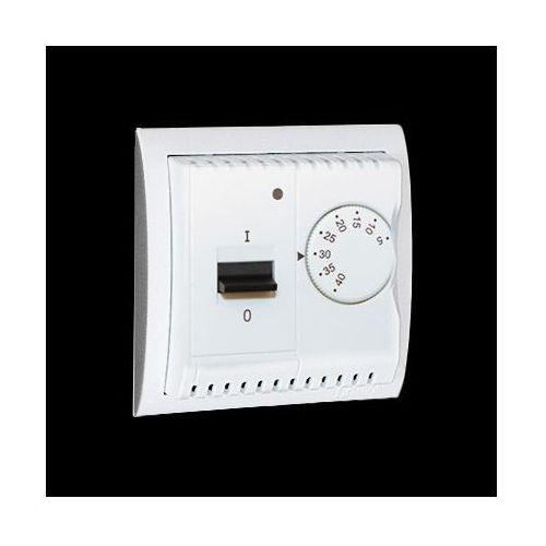 Regulator temperatury z czujnikiem wewnętrznym, 16A, 230V~. Montaż na wkręty; biały
