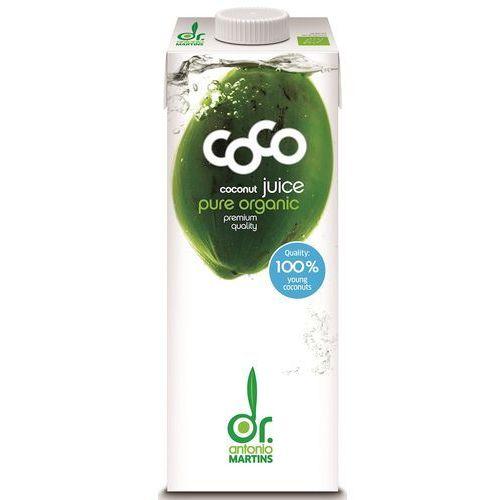 Coco (dr. martins, aqua verde) (wody kokosowe) Woda kokosowa naturalna bio 1 l -coco (dr. martins) (4260183211372)