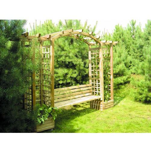 Ogrodosfera.pl Pergola drewniana z kratką 2100 x 3500 x 720