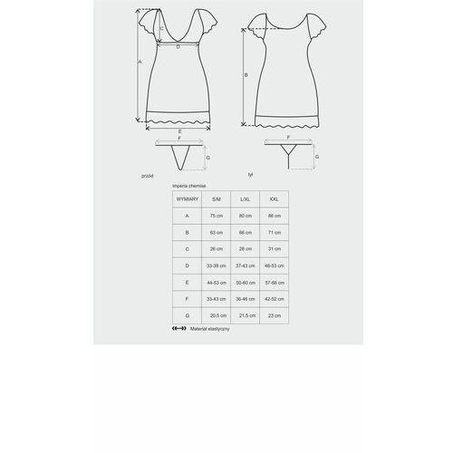 Koronkowa śliczność koszulka Obsessive Imperia Chemise & Thong S/M (5900308559031)