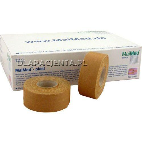 plast - przylepiec tkaninowy w kolorze skóry 9,1mx25mm marki Maimed