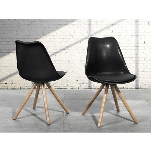 Krzesło do jadalni czarne - fotel - DAKOTA