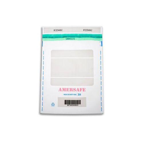AMERSAFE Koperta bezpieczna bankowa B4, zew. 255X375mm, transparentna, 50 sztuk, marki NC Koperty do zakupu w Mercateo Polska