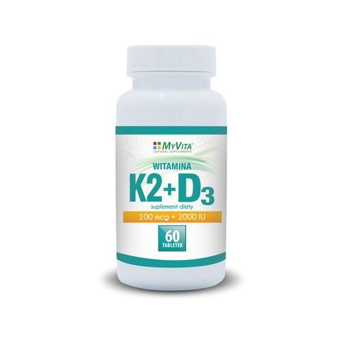 Tabletki WITAMINA K2+D3 W TABLETKACH 60 SZTUK Kuracja na 2 miesiące