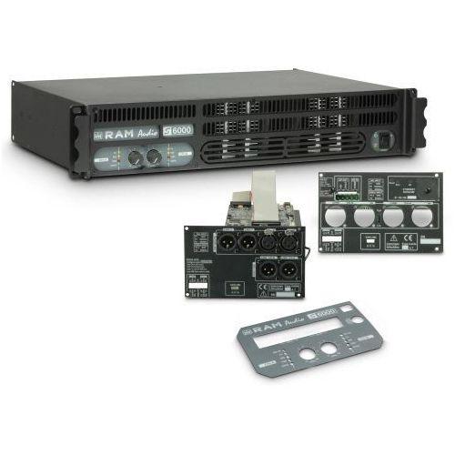 s 6000 dsp gpio - końcówka mocy pa 2 x 2950 w, 2 ohm, z modułami dsp i gpio marki Ram audio