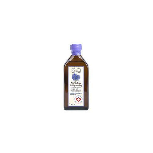 Ol'vita Olej lniany do diety dr budwig tłoczony na zimno, nieoczyszczony 250ml - olvita (5907591923372)