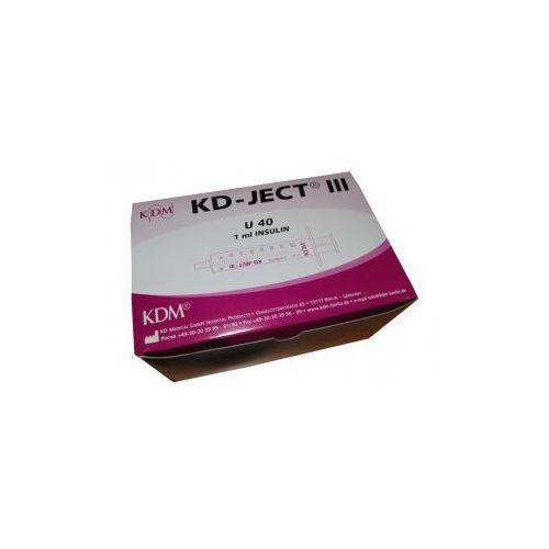 Strzykawki insulinowe  u40 1ml z igłą 0,4x13 a'100szt od producenta Kd medical