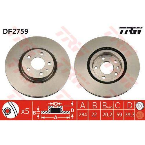 TARCZA HAM TRW DF2759 ALFA GTV 2.0JTS 03-, 2.0 16V T.S 98-00, TRW DF2759