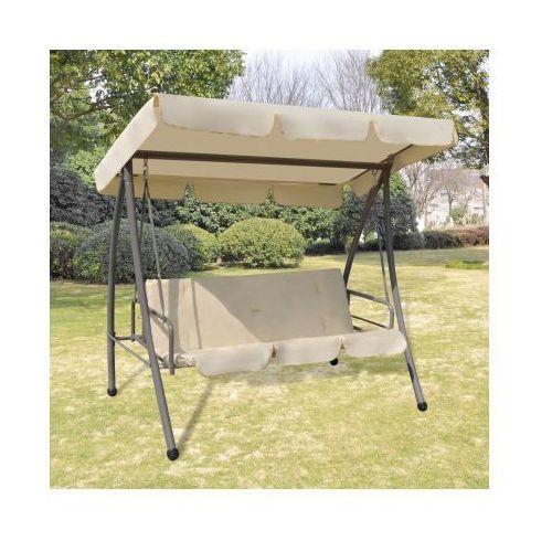 Huśtawka / łóżko z baldachimem w kolorze piasku - produkt dostępny w VidaXL