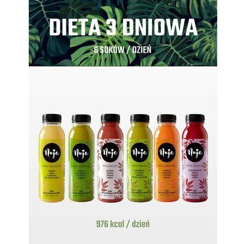 Nuja Dieta detoksykująca 3 dniowa / dieta sokowa / detoks sokowy