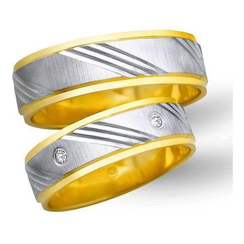 Obrączki ślubne z żółtego i białego złota 6mm - O2K/009, kup u jednego z partnerów