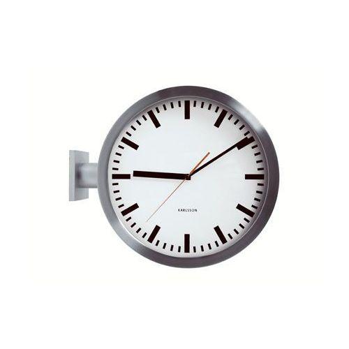 zegar ścienny dworcowy dwustronny marki Karlsson