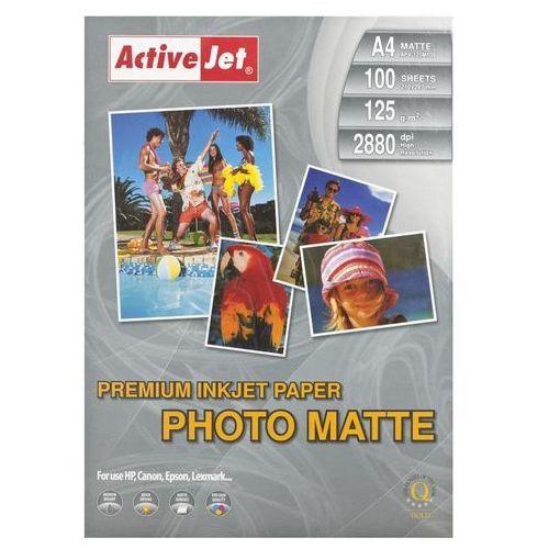 papier foto 125g matowy a4 (ap4-125m100) darmowy odbiór w 21 miastach! marki Activejet