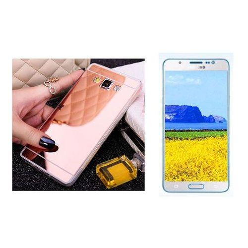 Zestaw | slim mirror case różowy + szkło ochronne perfect glass | etui dla samsung galaxy j5 (2016) marki Slim mirror / perfect glass