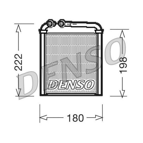 Wymiennik ciepła, ogrzewanie wnętrza DENSO DRR32005 (8717613475829)