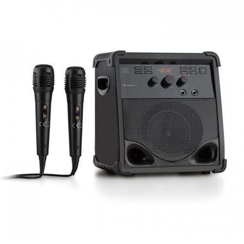 Rockstage zestaw karaoke bluetooth cd+g usb mp3 zasilanie bateryjne 2 x mikrofon marki Auna