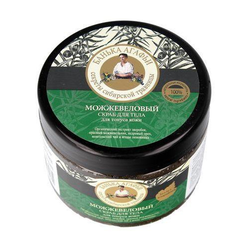 Bania Agafii - jałowcowy scrub do ciała - tonizujący - czerwony jałowiec, masło shea, cedr syberyjski, herbata mongolska, cytryniec hiński, dziurawiec, BA48